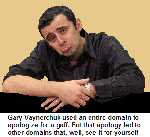 Gary Vaynerchuck is sorry.  Sort of.