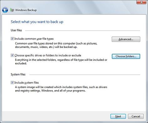 Windows 7 backup utility