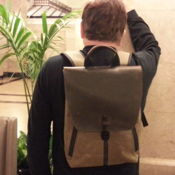 Staad Backpack in use