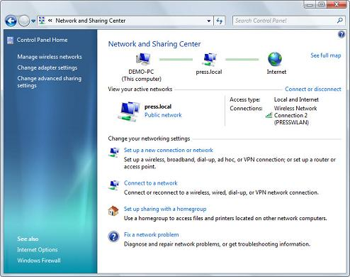 Windows 7Â's new Network and Sharing Center