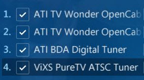 TV Pack supports up to four digital tuners