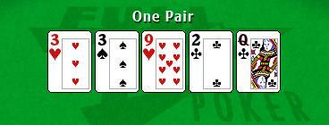 Pair of 3s from Full Tilt Poker
