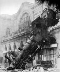 1895 train wreck at Montparnasse, Paris, France
