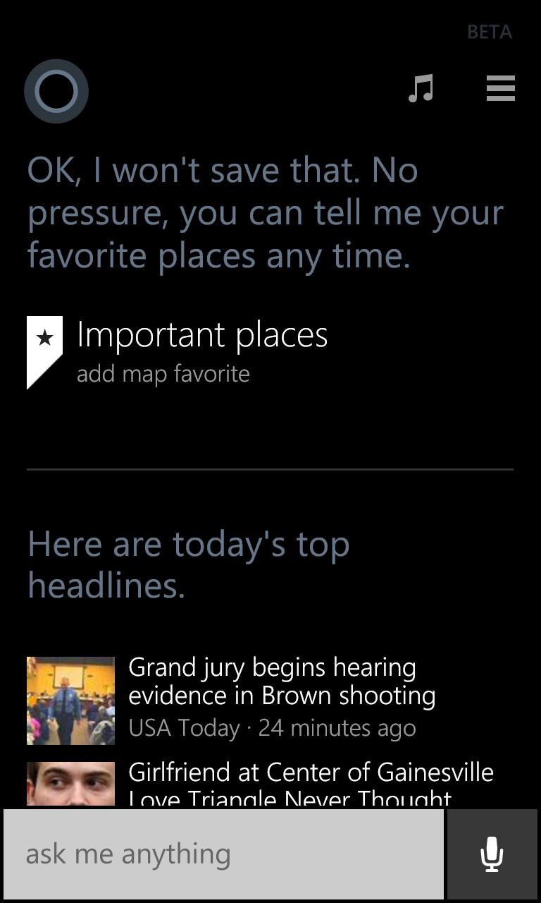Cortana no pressure