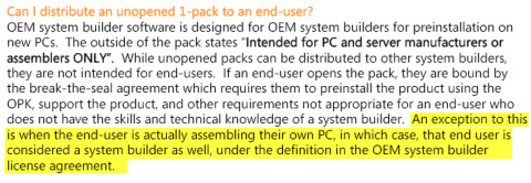 Changes to OEM System Builder licensing, PDF from Microsoft.com