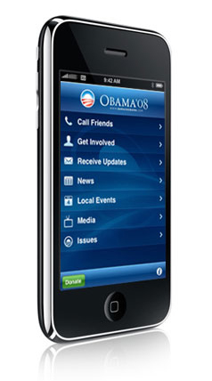 Obama Ã'Â'08 iPhone application launches