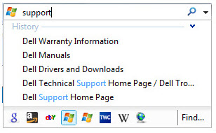 IE8 search box new features