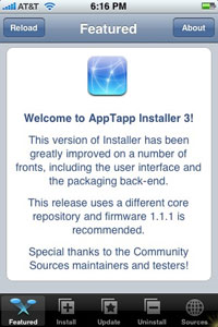 AppTapp updated to v3; works with iPhone 1.1.1