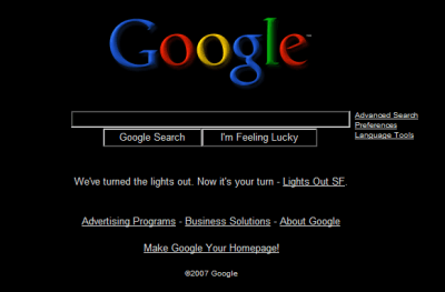 Google trys to turn out the lights in San Francisco