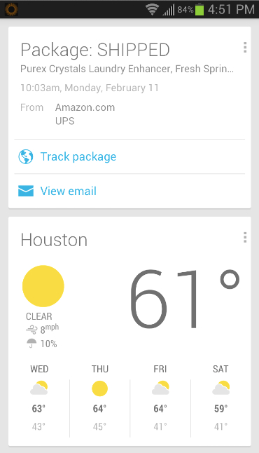 Google Now expanded