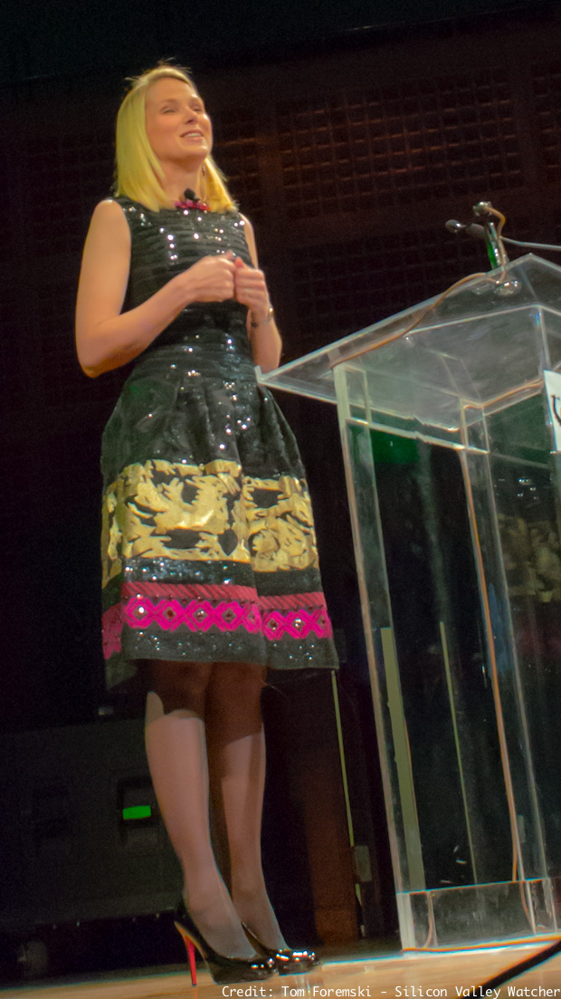 Marissa Mayer at Crunchies Awards.