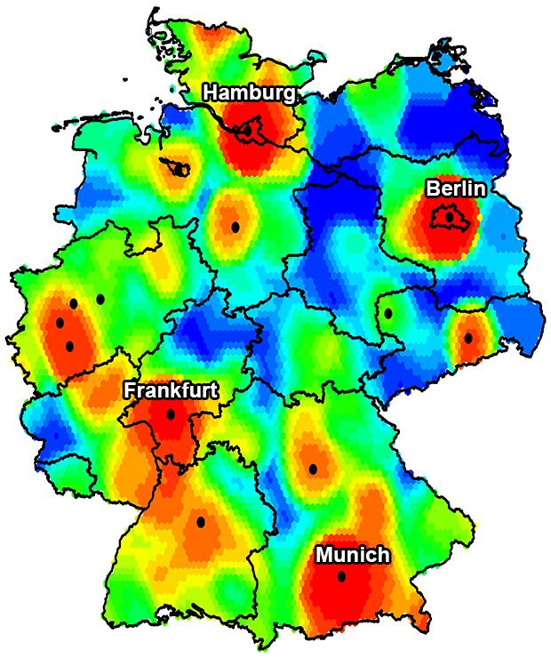 Bitkom IT startup hotspots germany
