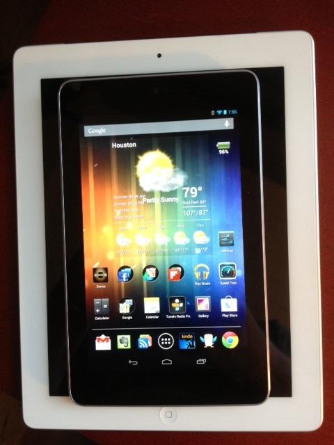 Nexus 7 on iPad 3