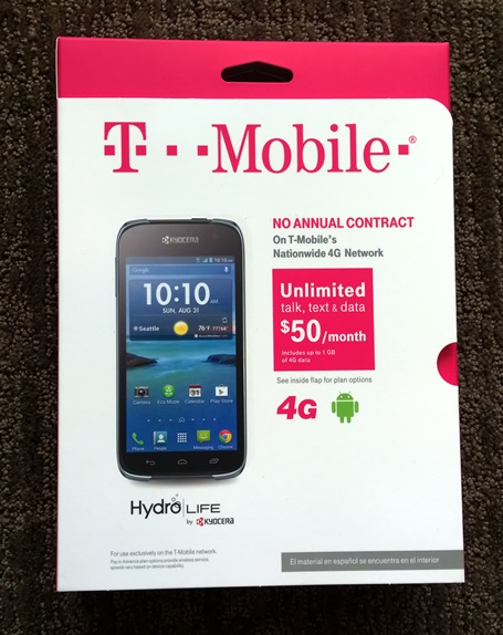Kyocera Hydro Life retail package