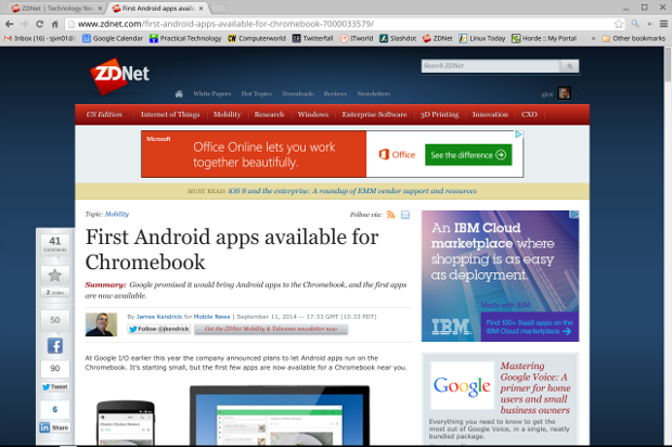 Android apps come to Chrome