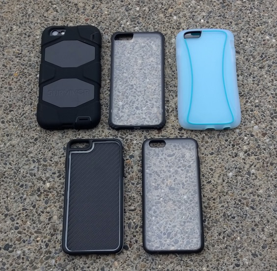 Each case tested with the iPhone 6 Plus
