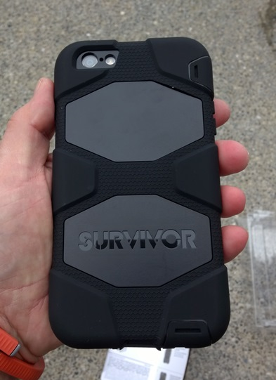 Back of the Survivor All-Terrain with iPhone 6 Plus installed