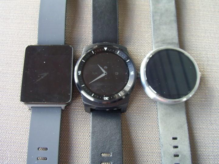 LG G Watch, LG G Watch R, and Moto 360