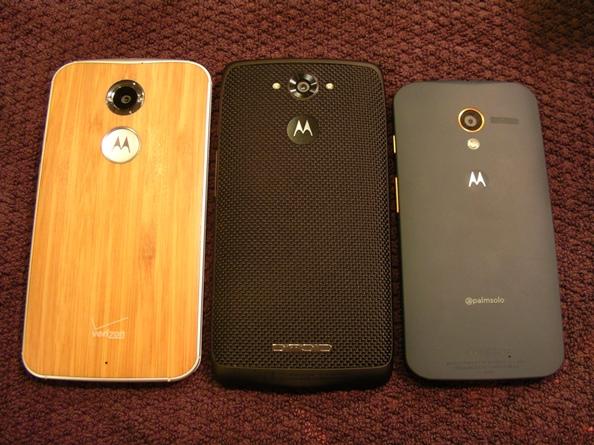 2014 Moto X, Droid Turbo, and 2013 Moto X
