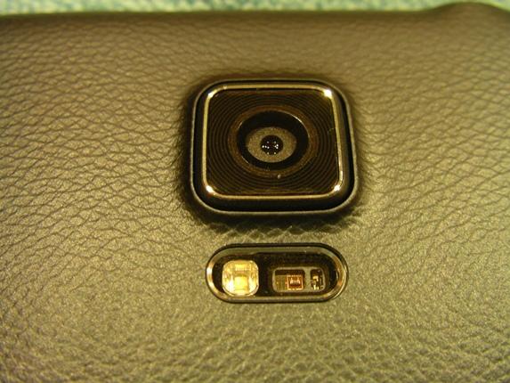 Camera, flash, and heart rate sensor