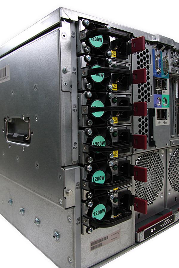 Six 1200W power supplies