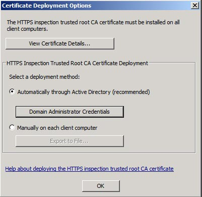 Outbound HTTPS inspection