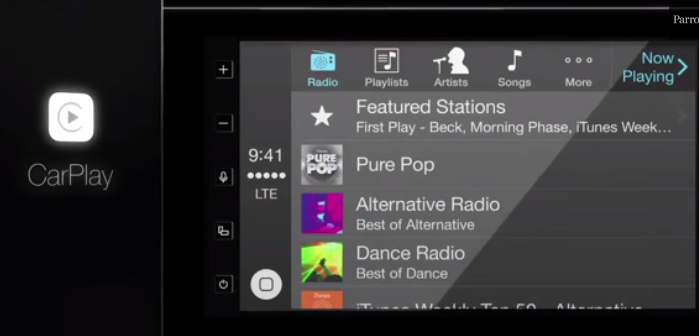 Infotainment for iOS users