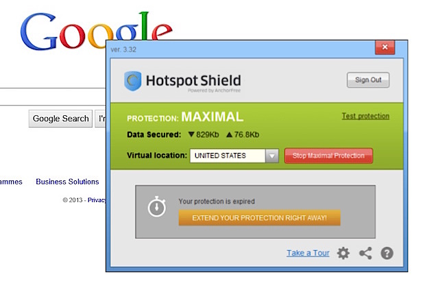 HotSpot Shield (virtual private network)