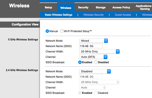 Switch to shorter 5GHz band to prevent wide broadcast