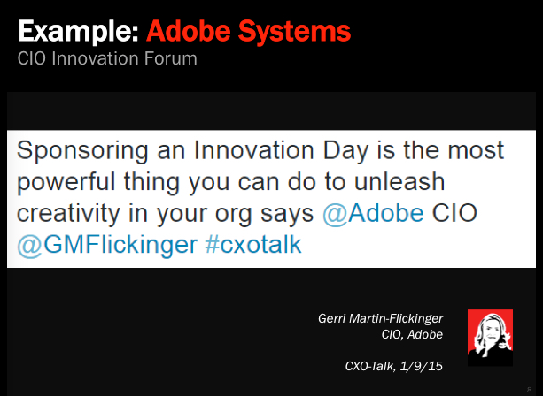 Example: Adobe Innovation Forum