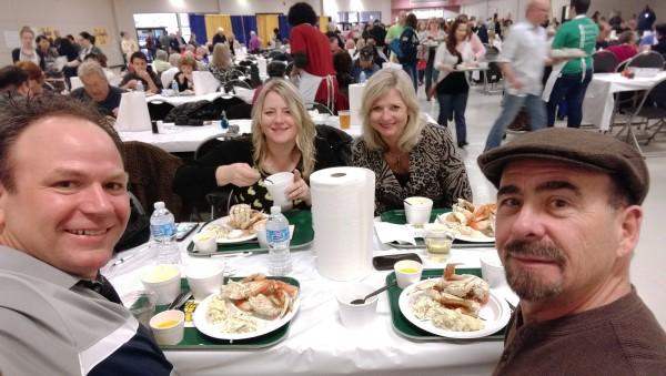 Crab feed with friends