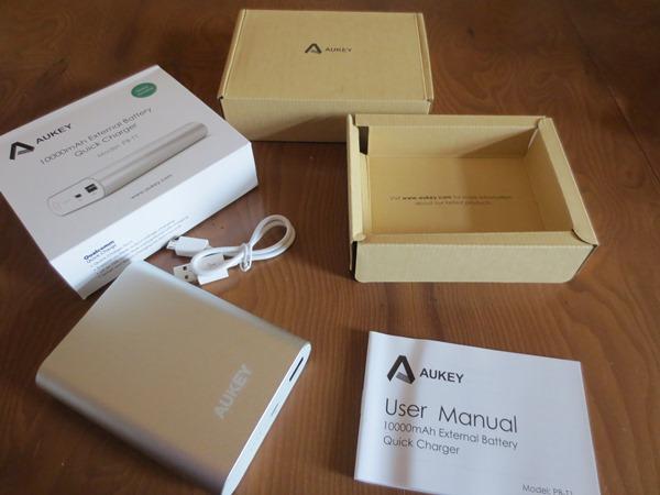 10,000mAh external battery quick charger