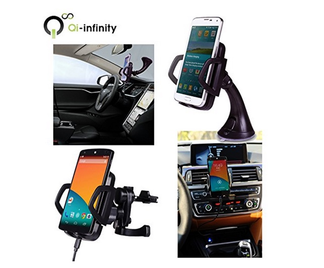 Qi-infinity Wireless Car Charger Dock