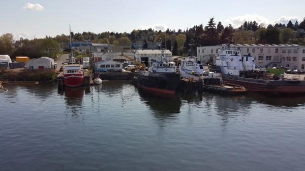 Boats on Lake Union