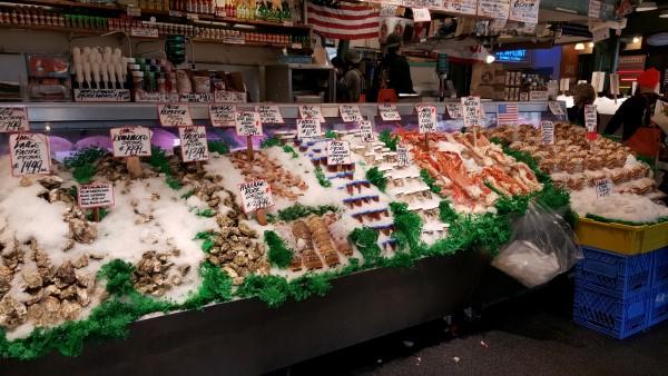 Fish market in Seattle