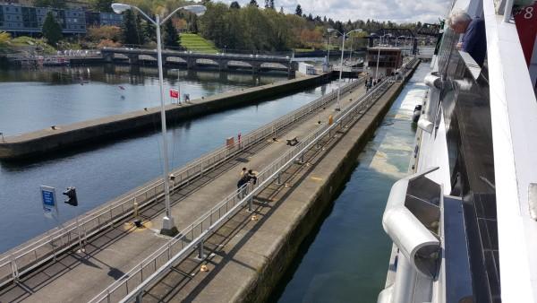 Passing through the Ballard locks