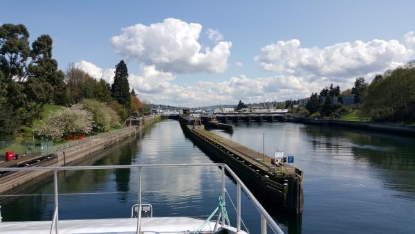 Entering the Ballard locks