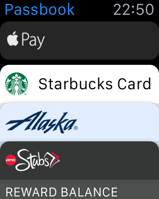 Look in Passbook to pay for things