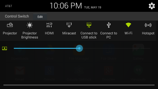 Notification shade on the ZTE Spro 2