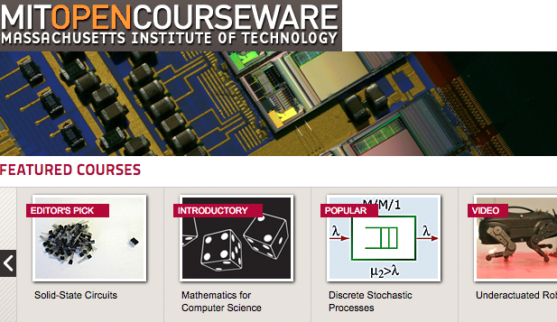 MIT free online engineering, computing courses