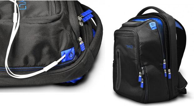 A high-tech backpack
