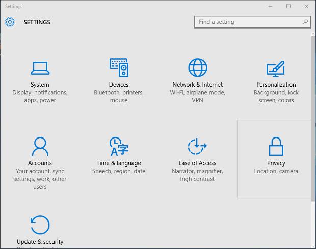 Windows 10 Settings