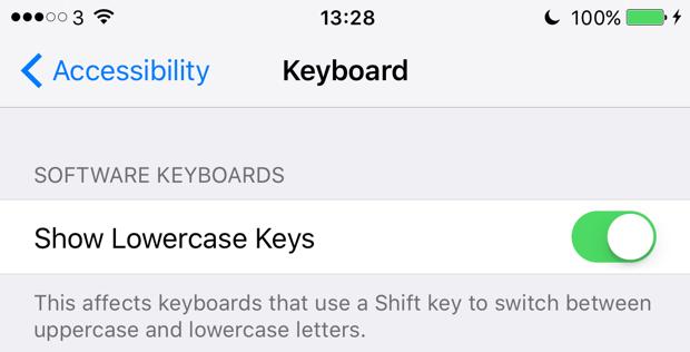iOS 9 tweak keyboard