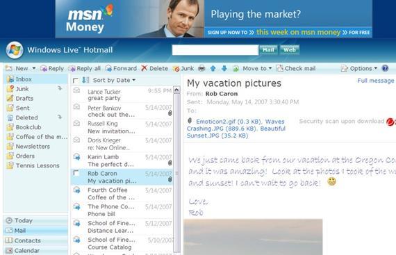 Hotmail database error, 2010