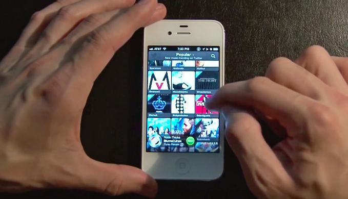 Twitter #Music App (2013)
