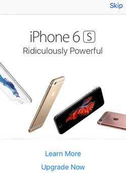 Apple shoves annoyingly aggressive popup ads for iPhone 6s into iOS App Store app