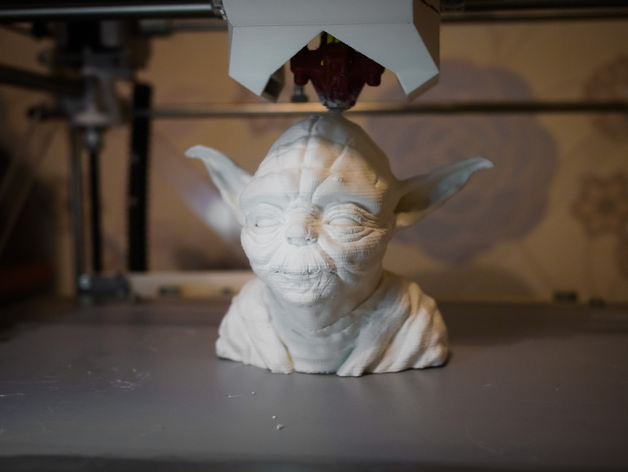 Yoda bust (and 3D printing test case)