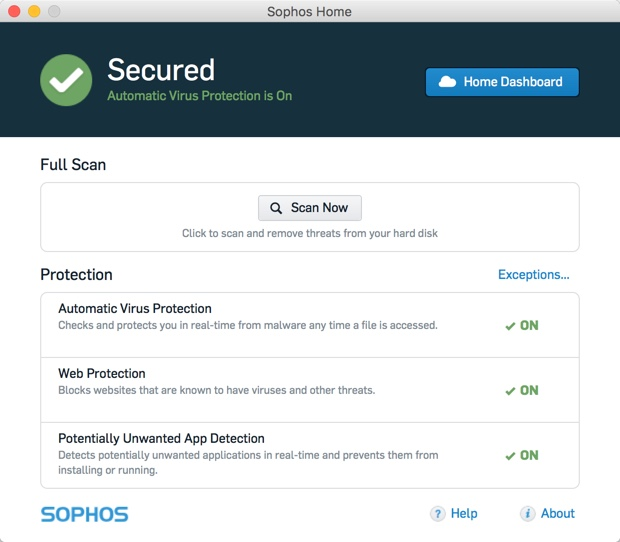 Sophos Home: Free antivirus for Windows and Mac users