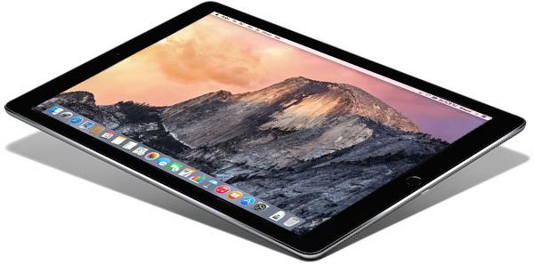 iPad Pro running OS X El Capitan (mockup)