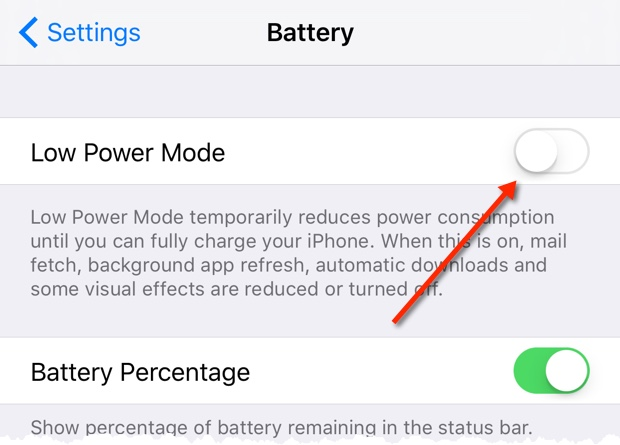 Activate Low Power Mode
